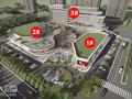 新仓美树商业中心鸟瞰图