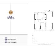 C-1户型  约105㎡ 三室两厅两卫