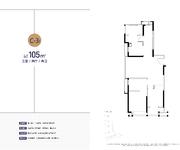 C-3户型  约105㎡ 三室两厅两卫